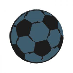 muursticker voetbal bal zonder naam kinderkamer sticker hiphuisje