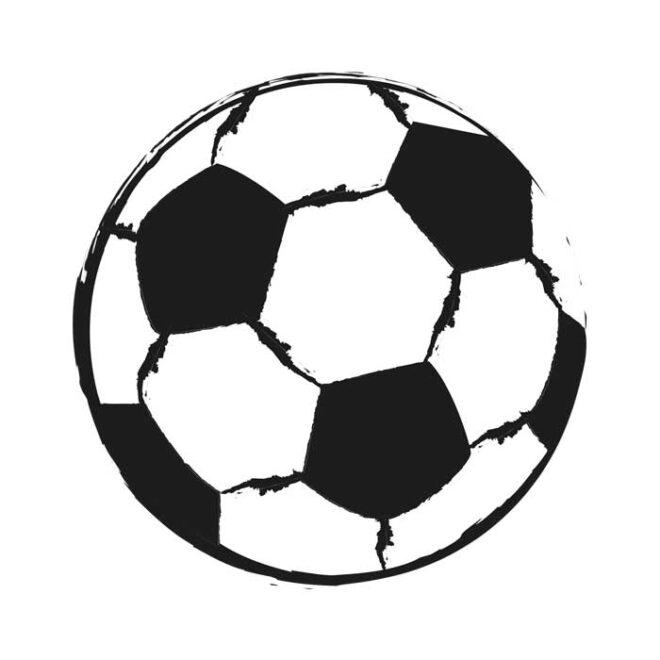 muursticker voetbal zwartwit kinderkamer voetbalkamer hiphuisje