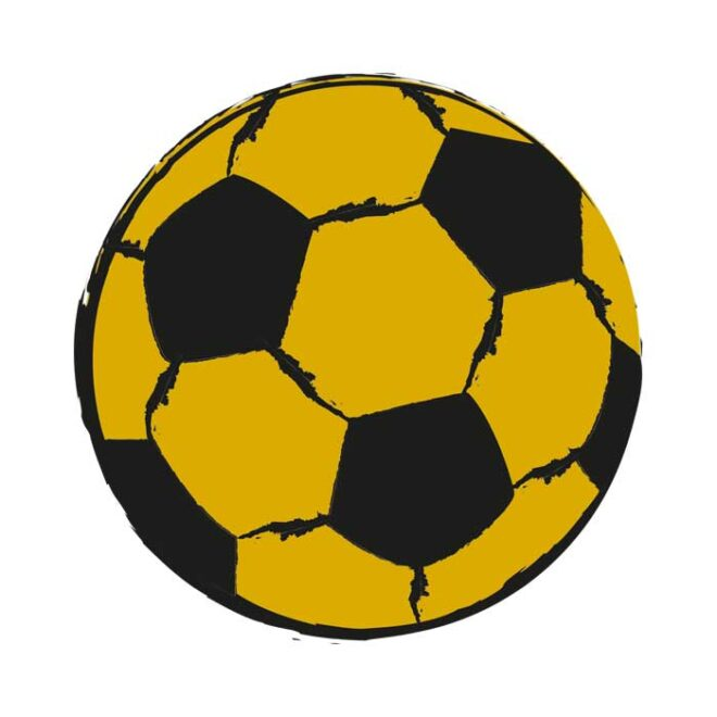 voetbal muursticker okergeel voetbalkamer hiphuisje