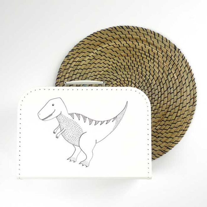 koffertje kinderkoffertje dino dinosaurus hiphuisje