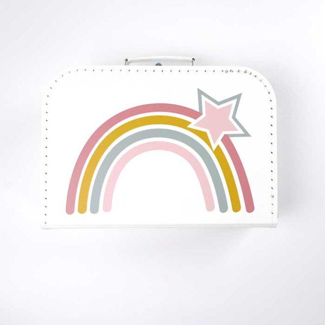 koffertje regenboog kinderkamer decoratie hiphuisje