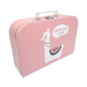 koffertje lama roze meisje kraamcadeau hiphuisje