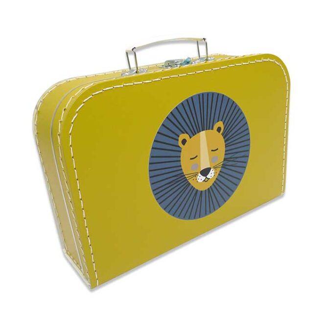 koffertje okergeel leeuw hiphuisje