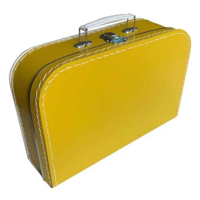 Kinderkoffertje okergeel koffertje hiphuisje