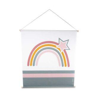 XL Textielposter regenboog kinderkamer meisjeskamer hiphuisje