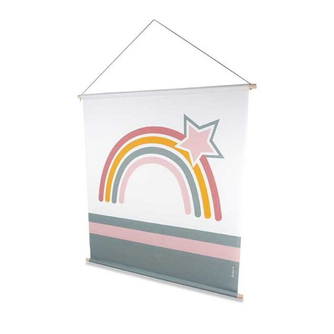 XL Textielposter regenboog poster kinderkamer hiphuisje