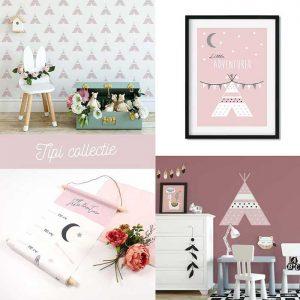 Tipi collectie roze meisjeskamer hiphuisje