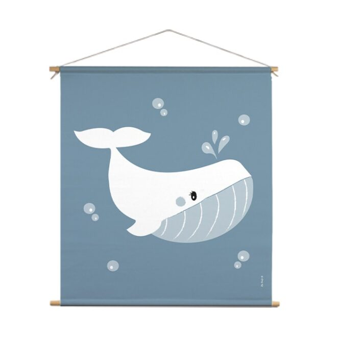 textielposter xl walvis jongenskamer hiphuisje