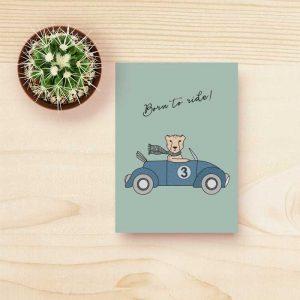kaart cheetah kind feestje kinderkamer hiphuisje