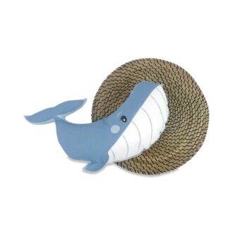 walvis knuffel kussen blauw babykamer kinderkamer hiphuisje