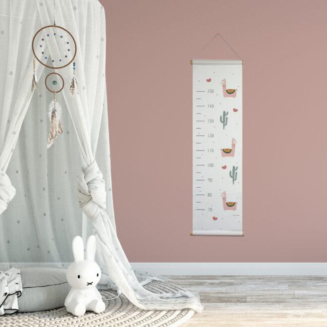 groeimeter lama wit met roze sfeer meisjeskamer hiphuisje
