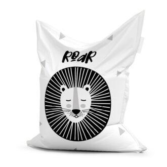 zwart witte zitzak met leeuw zwartwit hiphuisje