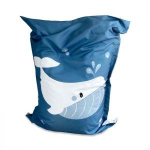 zitzak walvis groot babykamer kinderkamer decoratie hiphuisje