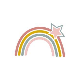 regenboog muurstickers meisjeskamer kinderkamer hiphuisje