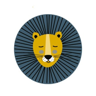 leeuw klein muurstickers kinderkamer babykamer