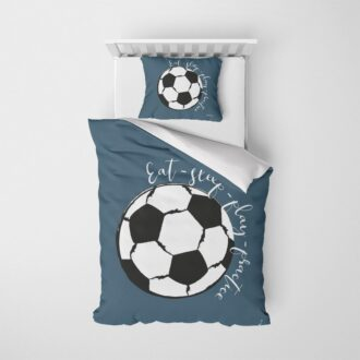 onderzijde dekbedovertrek voetbal kinderkamer hiphuisje