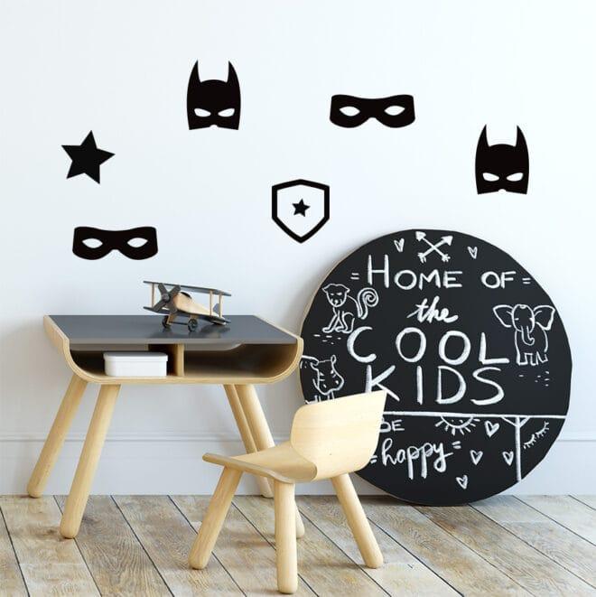 stickers superhero superhelden zwartwit hiphuisje