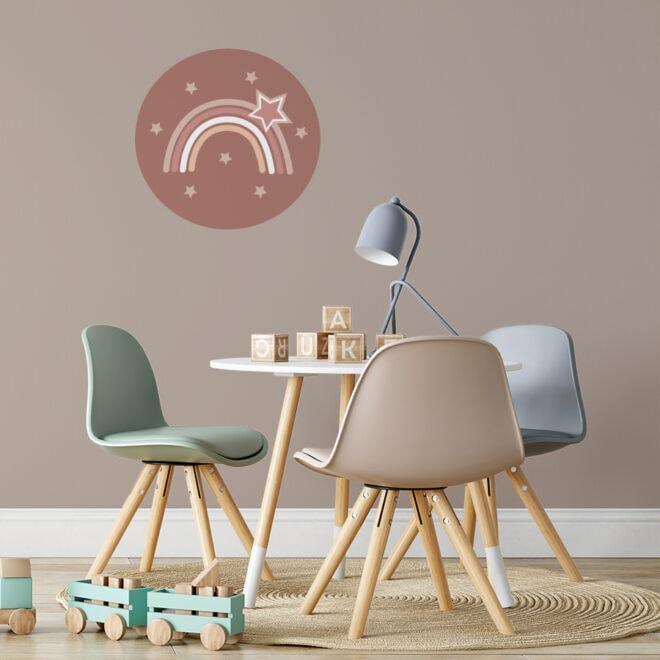 sfeer muurcirkel regenboog roest bruin 40 cm