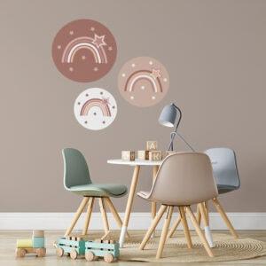 sfeer muurcirkels aardetinten regenboog roest bruin hiphuisje