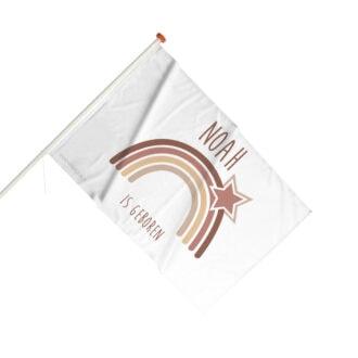 geboortevlag gevelvlag regenboog aardetinten hiphuisje