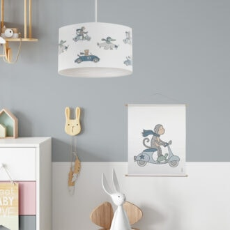 hanglamp dieren onderweg babykamer kinderkamer lamp hiphuisje