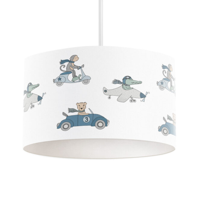 hanglamp dieren onderweg kleur jongenskamer lamp hiphuisje