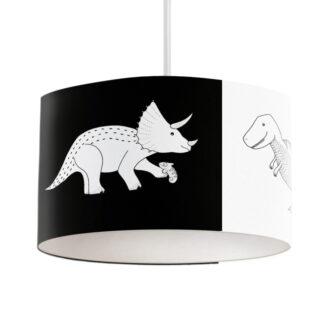 hanglamp dino zwart wit hiphuisje