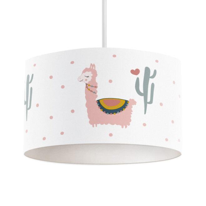 hanglamp lama roze meisjeskamer kinderlamp hiphuisje