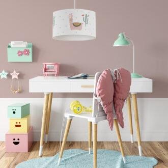 hanglamp lama roze sfeer meisjeskamer hiphuisje