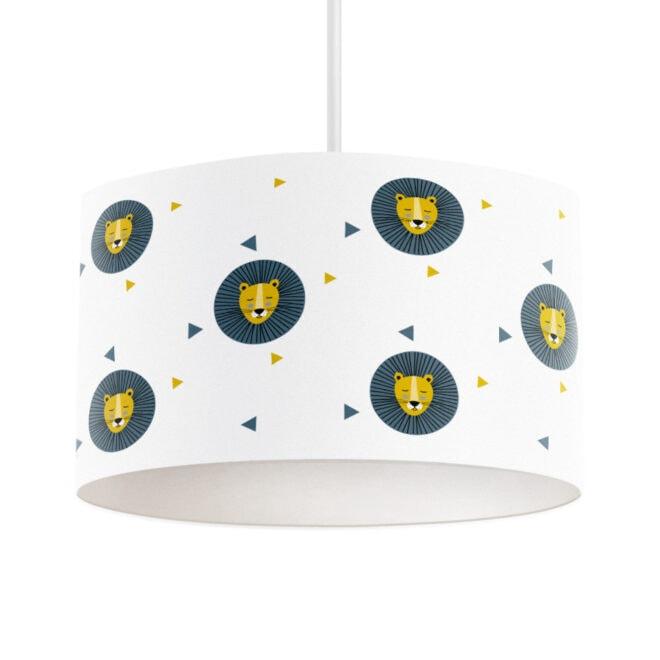 hanglamp leeuw okergeel blauw kinderlamp hip huisjekopie