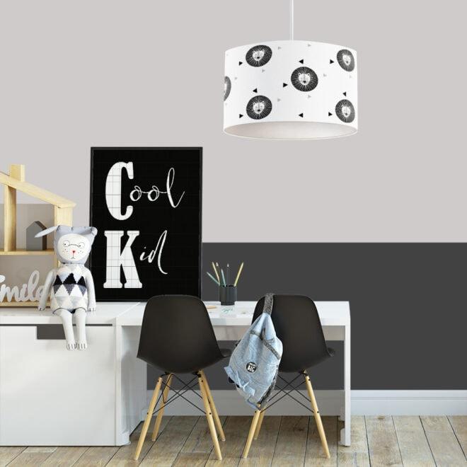 hanglamp leeuw zwart wit grijs hiphuisje