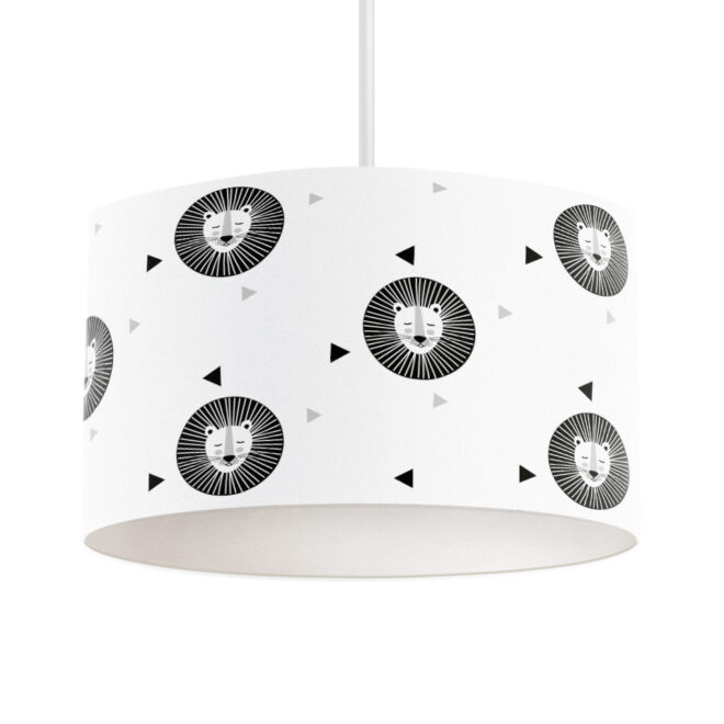hanglamp leeuw zwart wit kinderlamp hip huisje