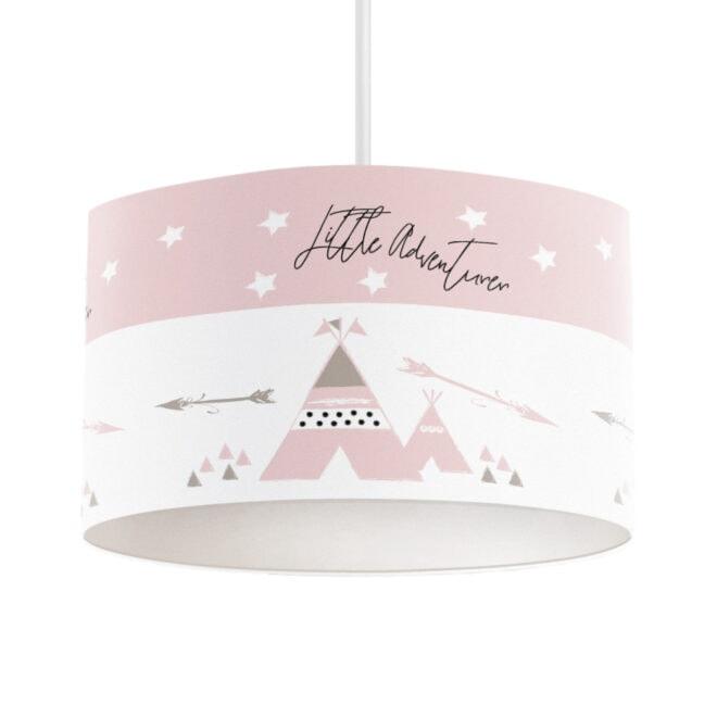 hanglamp tipi roze meisjeskamer hiphuisje