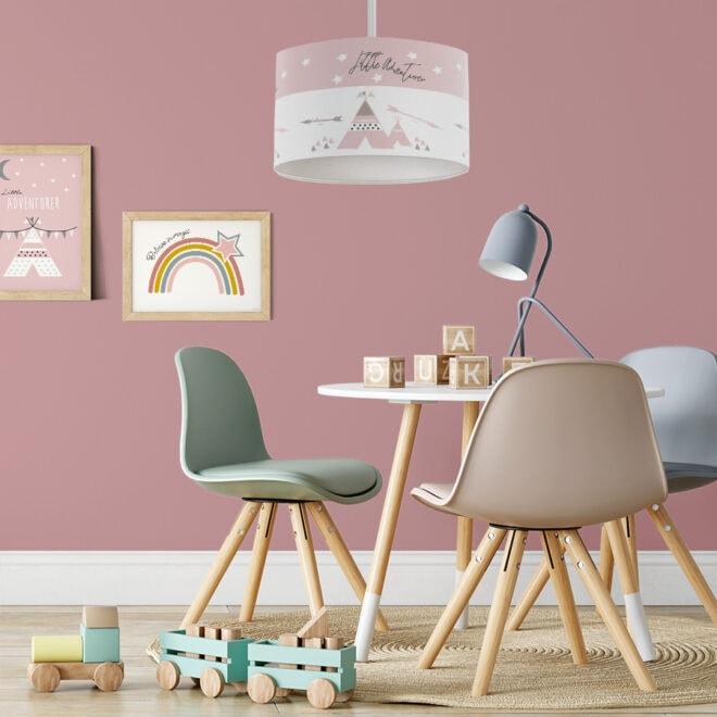 hanglamp tipi roze meisjeskamer lamp hiphuisje