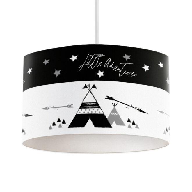 hanglamp tipi zwart wit monochrome kinderkamer hiphuisje