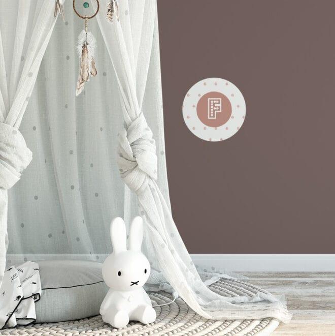 muurcirkels voorletter meisje hiphuisje