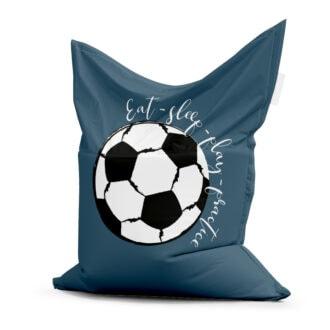 zitzak voetbal blauw kinderkamer
