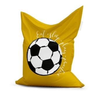 zitzak voetbal okergeel kinderkamer