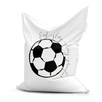 zitzak voetbal zwart wit kinderkamer