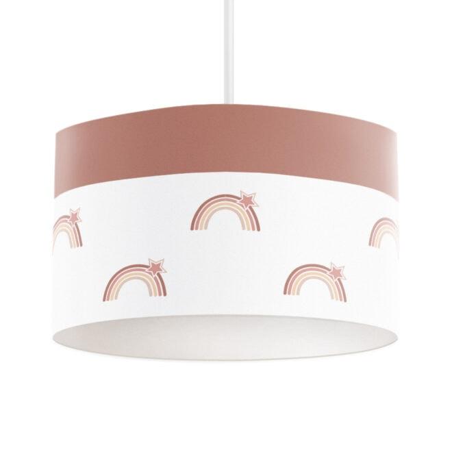 hanglamp aardetinten met regenboog