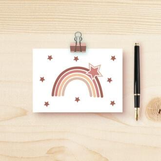 kaart regenboog in aardetinten hiphuisje
