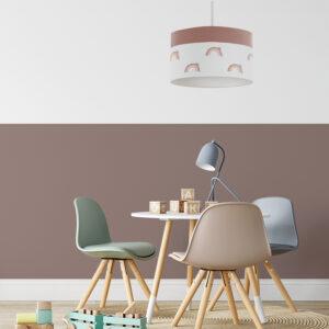sfeer hanglamp regenboog aardetint hiphuisje