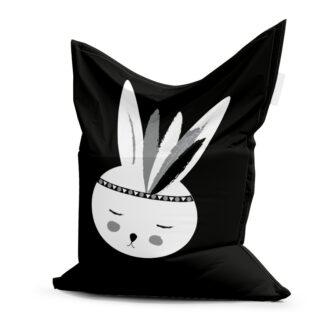 zwart witte zitzak konijntje hiphuisje