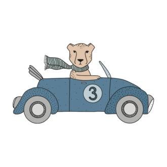 stickers cheetah auto hiphuisje