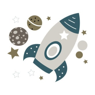 ruimtevaart stickers hiphuisje