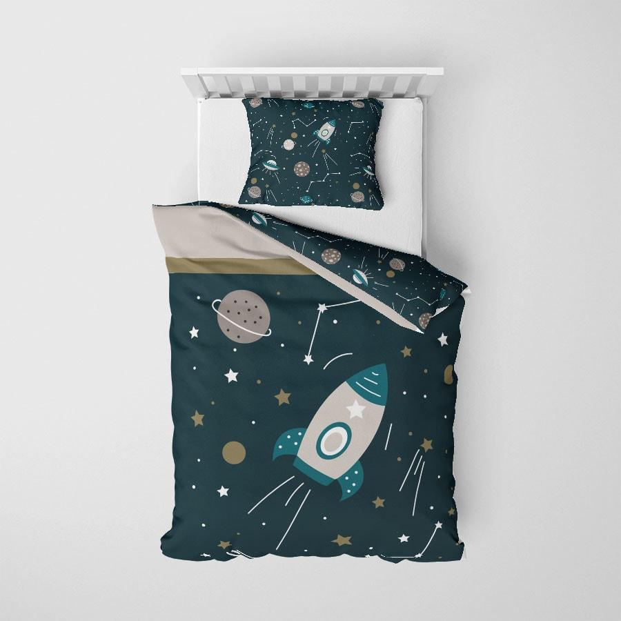 junior dekbedovertrek met ruimtevaart