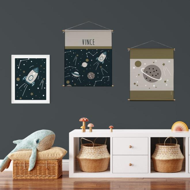 posters ruimtevaart textielposters hiphuisje