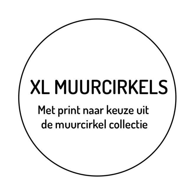 XL Muurcirkels kinderkamer hiphuisje
