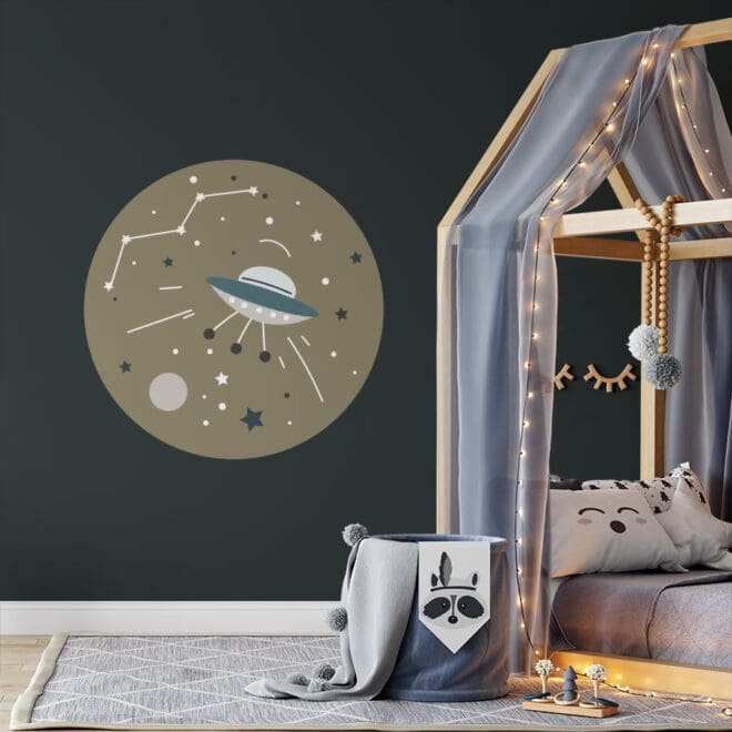 xl muurcirkel ruimtevaart hiphuisje kopiëren