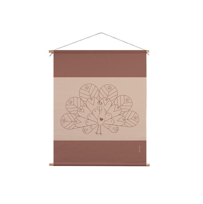 textielposter pauw naturel hiphuisje kopiëren